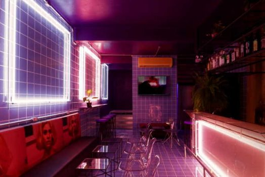 What interior light would draw people's attention in bars?